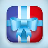 Vector Design France Gift Icon for Web and Mobile Royalty Free Stock Photography