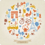 Vector design with Franch elements. Vector design with flat French elements Royalty Free Stock Image