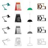 Vector design of furniture and work symbol. Collection of furniture and home stock vector illustration. stock illustration