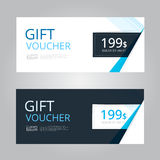 Vector design for Gift Voucher, Coupon Stock Photo
