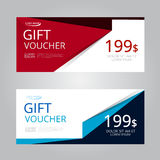Vector design for Gift Voucher, Coupon Royalty Free Stock Photo