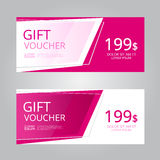 Vector design for Gift Voucher, Coupon. Illustration EPS10 Royalty Free Stock Photos