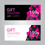 Vector design for Gift Voucher, Coupon Royalty Free Stock Images
