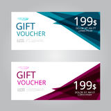Vector design for Gift Voucher, Coupon Stock Image