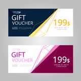 Vector design for Gift Voucher, Coupon Royalty Free Stock Image