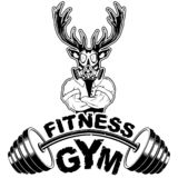 Vector design for a gym with an abstract depiction of a strong d. Eer. Vector illustration stock illustration
