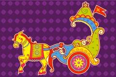 Vector design of Happy Dussehra chariot Stock Photos