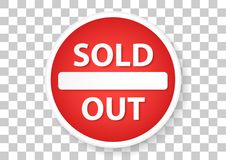sold out marketing sign Royalty Free Stock Photos