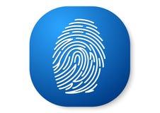 Fingerprints blue icon. Vector design of icon password concept Royalty Free Stock Photo