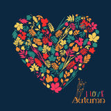 Vector design illustration with heart. Stock Photo