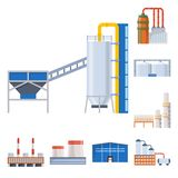 Vector design of industry and building symbol. Collection of industry and construction vector icon for stock. royalty free illustration