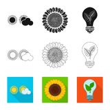 Vector design of innovation and technology  icon. Collection of innovation and nature  stock vector illustration. Vector illustration of innovation and vector illustration