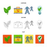Vector design of innovation and technology icon. Set of innovation and nature stock vector illustration. Vector illustration of innovation and technology symbol vector illustration