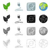 Vector design of innovation and technology  symbol. Set of innovation and nature  stock vector illustration. Vector illustration of innovation and technology vector illustration