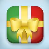 Vector Design Italy Gift Icon for Web and Mobile Royalty Free Stock Photos