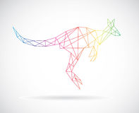 Vector design of kangaroos Royalty Free Stock Photo