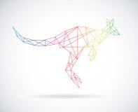 Vector design of kangaroos Royalty Free Stock Photo