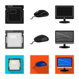 Isolated object of laptop and device sign. Collection of laptop and server vector icon for stock. royalty free illustration