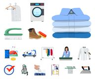 Vector design of laundry and clean logo. Collection of laundry and clothes stock vector illustration. Vector illustration of laundry and clean icon. Set of vector illustration
