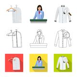 Isolated object of laundry and clean sign. Collection of laundry and clothes stock symbol for web. Vector design of laundry and clean logo. Set of laundry and vector illustration