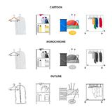 Isolated object of laundry and clean sign. Collection of laundry and clothes vector icon for stock. Vector design of laundry and clean logo. Set of laundry and vector illustration