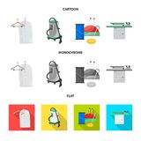 Isolated object of laundry and clean symbol. Collection of laundry and clothes stock symbol for web. Vector design of laundry and clean sign. Set of laundry and vector illustration