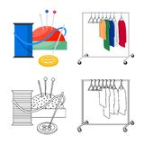 Isolated object of laundry and clean symbol. Collection of laundry and clothes stock symbol for web. Vector design of laundry and clean sign. Set of laundry and stock illustration