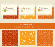 Vector design layouts - natural honey collection Royalty Free Stock Photography