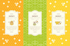 Vector design layouts - natural honey collection Stock Image