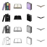 Isolated object of library and textbook logo. Collection of library and school stock symbol for web. Vector design of library and textbook icon. Set of library stock illustration