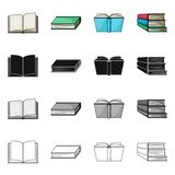 Vector design of library and textbook logo. Collection of library and school stock vector illustration. Vector illustration of library and textbook icon. Set of vector illustration