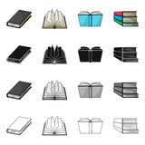 Vector design of library and textbook logo. Set of library and school stock symbol for web. Vector illustration of library and textbook icon. Collection of vector illustration