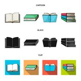 Isolated object of library and textbook symbol. Set of library and school stock symbol for web. Vector design of library and textbook sign. Collection of stock illustration