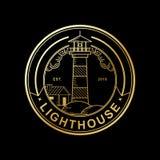 Vector design of lighthouse golden color stock illustration