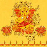 Vector design of Lord Ganesha. In Indian art style Royalty Free Stock Photos