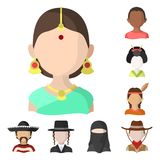 Vector design of nation and race  icon. Set of nation and user stock vector illustration. Vector illustration of nation and race  symbol. Collection of nation royalty free illustration