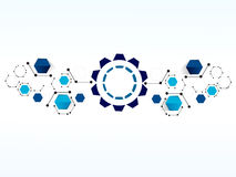 Vector design Network technology background. Royalty Free Stock Photography