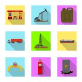 Vector design of oil and gas logo. Collection of oil and petrol vector icon for stock. vector illustration
