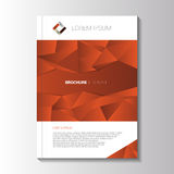Vector design orange flyer.Brochure template Royalty Free Stock Photography