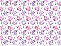 Vector design of rose seamless pattern background. Vector design of ornamental rose seamless pattern background for wallpaper, fabric pattern template and more Royalty Free Stock Image