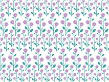 Vector design of rose seamless pattern background. Vector design of ornamental rose seamless pattern background for wallpaper, fabric pattern template and more Royalty Free Stock Photos