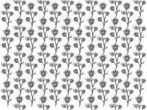 Vector design of rose seamless pattern background. Vector design of ornamental rose seamless pattern background for wallpaper, fabric pattern template and more Stock Images