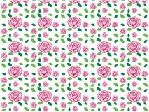 Vector design of rose seamless pattern background. Vector design of ornamental rose seamless pattern background for wallpaper, fabric pattern template and more Stock Photos