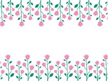 Vector design of rose seamless pattern background. Vector design of ornamental rose seamless pattern background for wallpaper, fabric pattern template and more Stock Photography