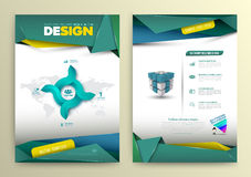 Vector design page template modern style. Stock Images