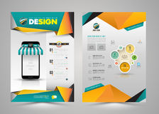 Vector design page template modern style. Royalty Free Stock Photos