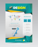 Vector design page template modern style. Royalty Free Stock Photo