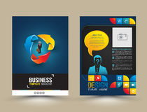 Vector design page template modern style. royalty free illustration