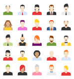 Vector design of people avatars. Flat user face icon royalty free illustration