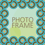 Vector design for photo frame. Scrap template with photo frame stock illustration